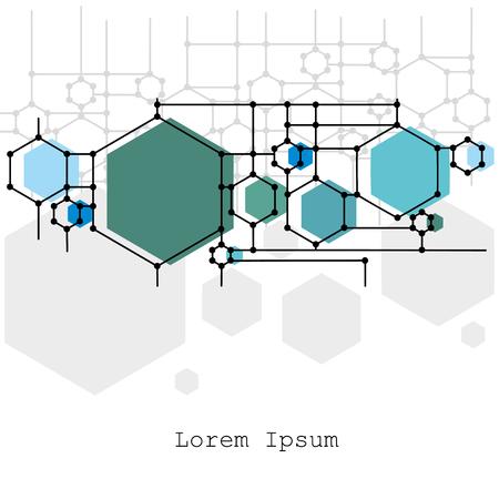 Illustration pour Molecule and communication with connected dots and lines. - image libre de droit