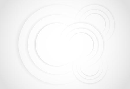 Ilustración de White gradient abstract line circle background - Imagen libre de derechos