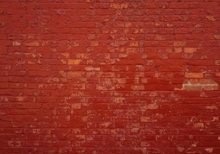 Foto de Background of an old brick wall with red stones - Imagen libre de derechos