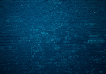 Foto de Old dark blue brick wall as background - Imagen libre de derechos