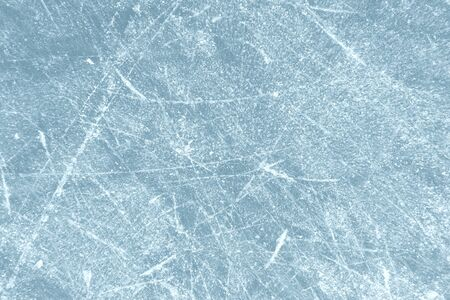 Photo for Scratched frozen ice texture with scratches from skates - Royalty Free Image