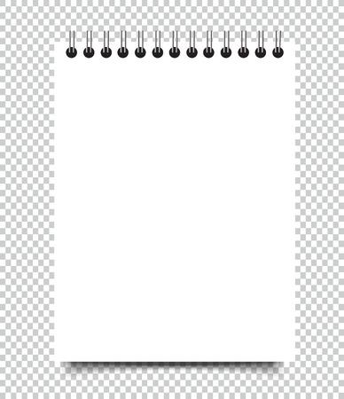 Ilustración de Blank Square notebook calendar mockup cover template. - Imagen libre de derechos