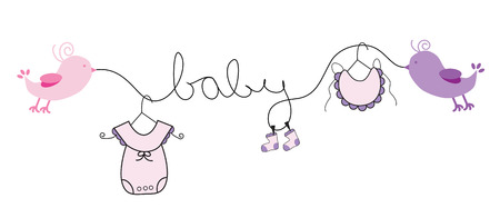 Ilustración de Baby Girl - Imagen libre de derechos