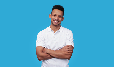 Photo for Confident ethnic man smiling for camera - Royalty Free Image