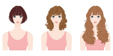 Illustration for woman hairstyle - Royalty Free Image