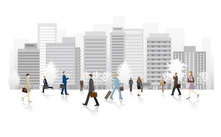 Foto de Business people walking the streets - Imagen libre de derechos