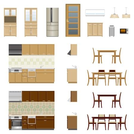 Illustration pour Kitchen Furniture - image libre de droit