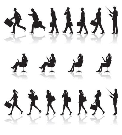 Illustration pour Scene of business / Shadow - image libre de droit