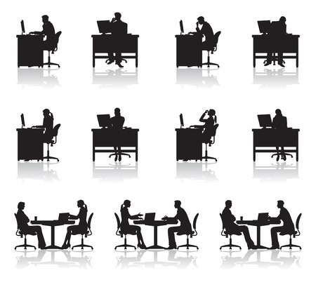 Illustration pour Scene of business / Shadow - image libre de droit