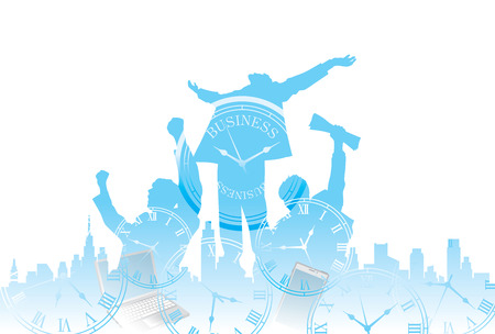 Illustration pour Scene of business - image libre de droit