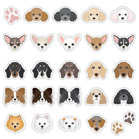 Ilustración de Illustrations of dog face - Imagen libre de derechos