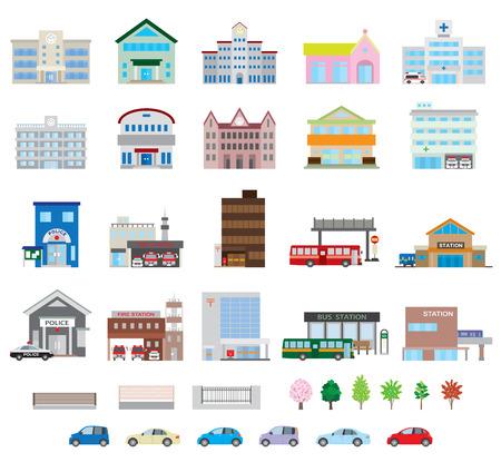 Ilustración de Various building - Imagen libre de derechos