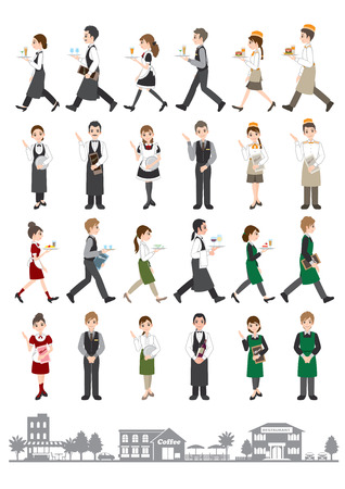 Photo pour Illustrations of various people / People who work - image libre de droit