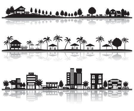 Illustration pour Various city - image libre de droit