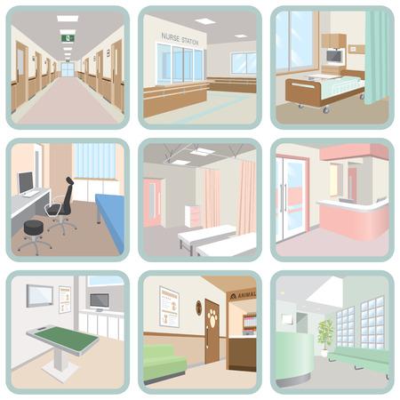 Illustration pour Hospital - image libre de droit