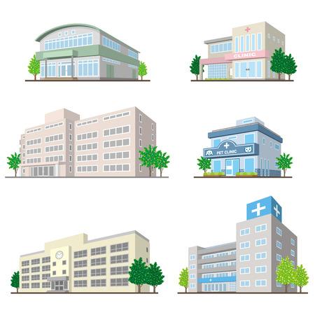 Illustration pour Building/Solid figure - image libre de droit