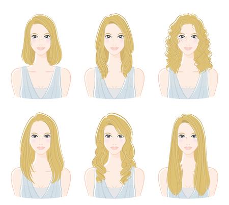 Ilustración de Illustration of the hairstyle - Imagen libre de derechos