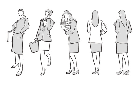 Illustration for Illustration of the Businesswoman - Royalty Free Image