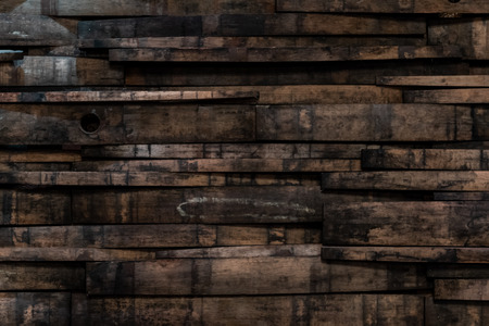 Photo pour Close Up of Bourbon Barrel Stave Wall Background - image libre de droit