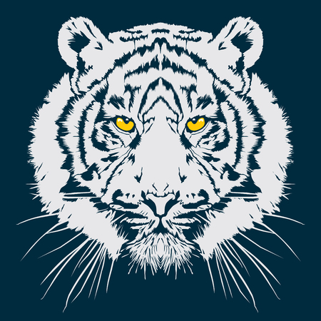 Illustration for Tiger head vector illustration - Royalty Free Image