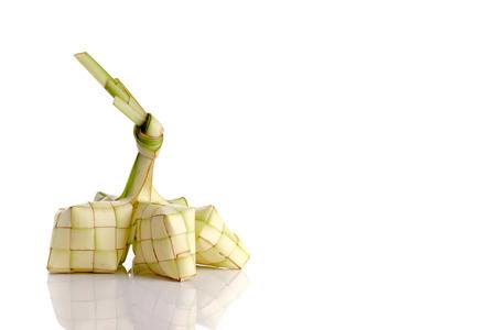 Photo for Ketupat (rice dumpling) on white background - Royalty Free Image