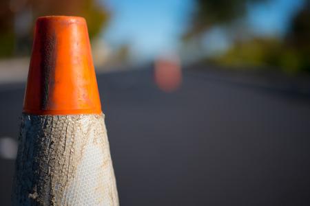 Photo pour Orange Traffic Cone - image libre de droit