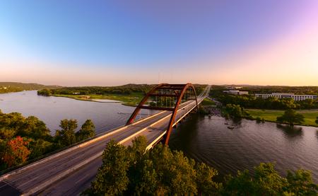 Photo pour Austin 360 bridge - image libre de droit