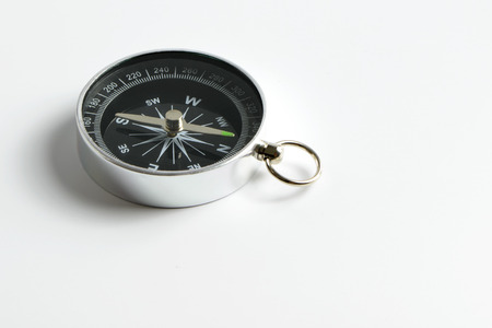 Photo for Black compass instrument isolated on white background - Royalty Free Image