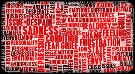 Negative Emotions Building Up Stress As Art