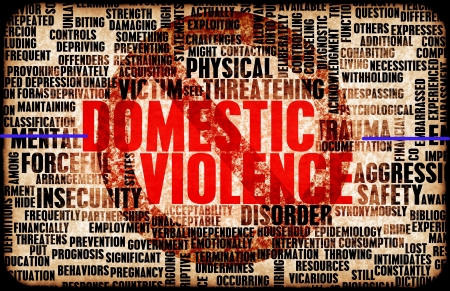 Photo pour Domestic Violence and Abuse as a Abstract - image libre de droit