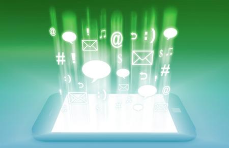 Photo pour Emerging Mobile Market Media and Technologies Art - image libre de droit