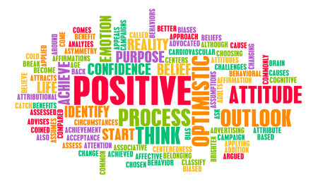 Photo pour Think or Stay Positive as a Positivity Mindset - image libre de droit