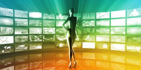 Multimedia Entertainment with Futuristic Video Gallery Art