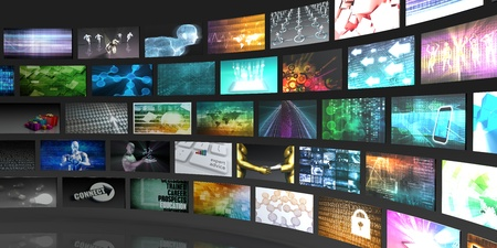 Photo for Television Production Technology Concept with Video Wall - Royalty Free Image