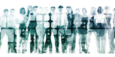 Photo pour Developing Workforce or Develop Talent in a Company - image libre de droit