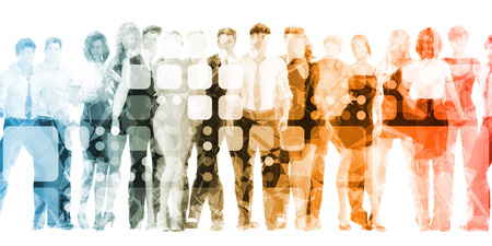 Photo pour Organization Training and Skills Upgrade as Concept - image libre de droit