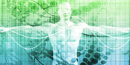 Foto de Digital Health System Software and Body Technology as Concept - Imagen libre de derechos