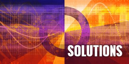 Photo pour Solutions Focus Concept on a Futuristic Abstract Background - image libre de droit