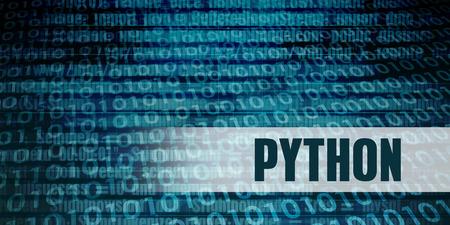 Photo pour Python Development Language as a Coding Concept - image libre de droit