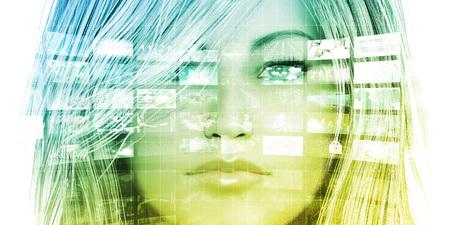 Foto de Data Analysis or Analytics with Woman Viewing Data Charts - Imagen libre de derechos