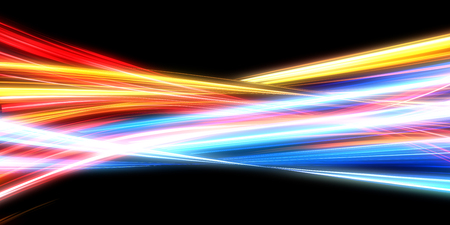 Photo pour Glowing Energy Lines with Mixing Neon Lights - image libre de droit