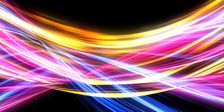Photo pour Abstract Light Background Concept with Pulsating Energy - image libre de droit