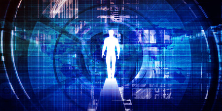 Photo pour Technology Gateway to Accessing More Information as a Virtual Portal - image libre de droit