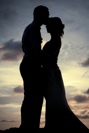 Photo for Silhouette couple - Royalty Free Image