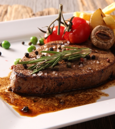 Photo for Grilled Beef Steak - Royalty Free Image