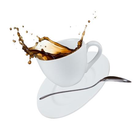 Photo pour Close-up of cup of coffee - image libre de droit