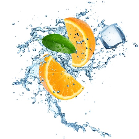 Photo for Oranges in water explosion - Royalty Free Image
