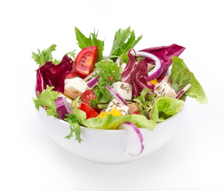 Photo pour Fresh tasty salad isolated on white background - image libre de droit