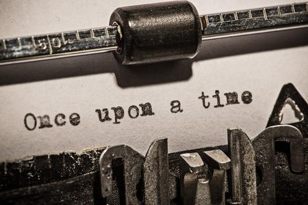 Foto de Old vintage typewriter, close-up. - Imagen libre de derechos