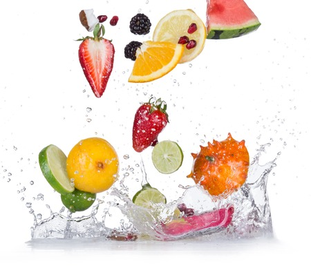 Photo for Fresh fruit with water splash - Royalty Free Image